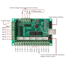 CNC USB MACH3 100Khz Breakout Board 5 Axis Interface Driver Motion Controller -v цена 2017