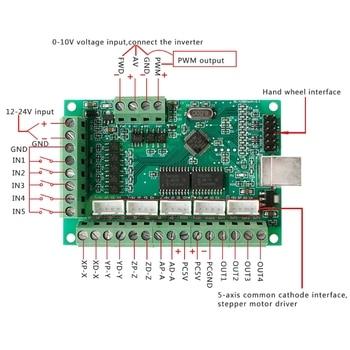 цена на CNC USB MACH3 100Khz Breakout Board 5 Axis Interface Driver Motion Controller -v