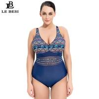 LEBESI 2018 New Plus Size Women One Piece Swimsuit Push Up Swimwear 6XL 10XL 200kg Swimsuit