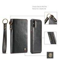 Ocube ريال جلدية للآيفون x الهاتف القضية غطاء المحفظة بطاقة أزياء حالة الهاتف ل فون × 5.8 بوصة الهاتف كابا الذكي