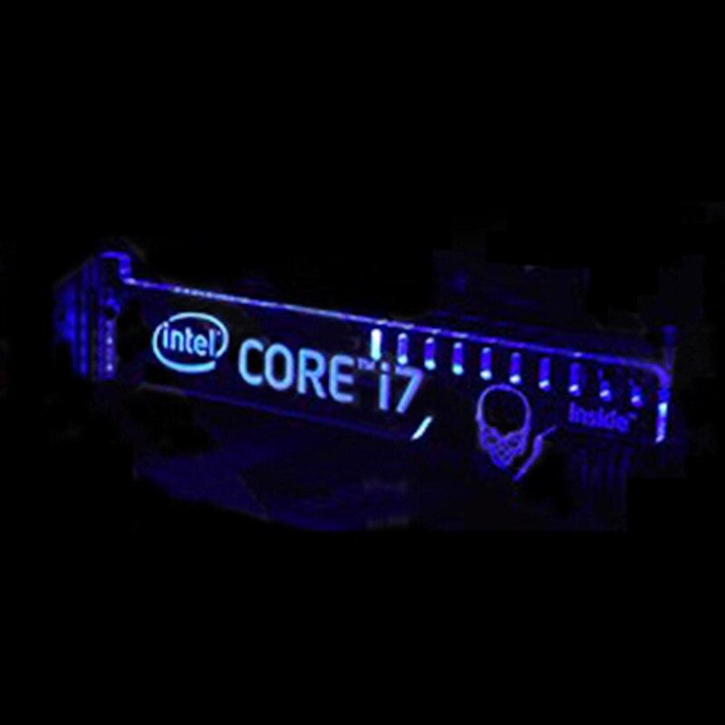 Date Chaude Bleu LED Extended Version Pour CORE i7 à l'intérieur lumineux Ordinateur Principal Boîte Cartes Graphiques Supportent les Cadre Affichage Carte SON