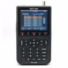 2017hot venta original satlink ws-6908 3.5 lcd dvb-s fta satélite digital ws 6908 del buscador de satélite medidor de señal libre gratis