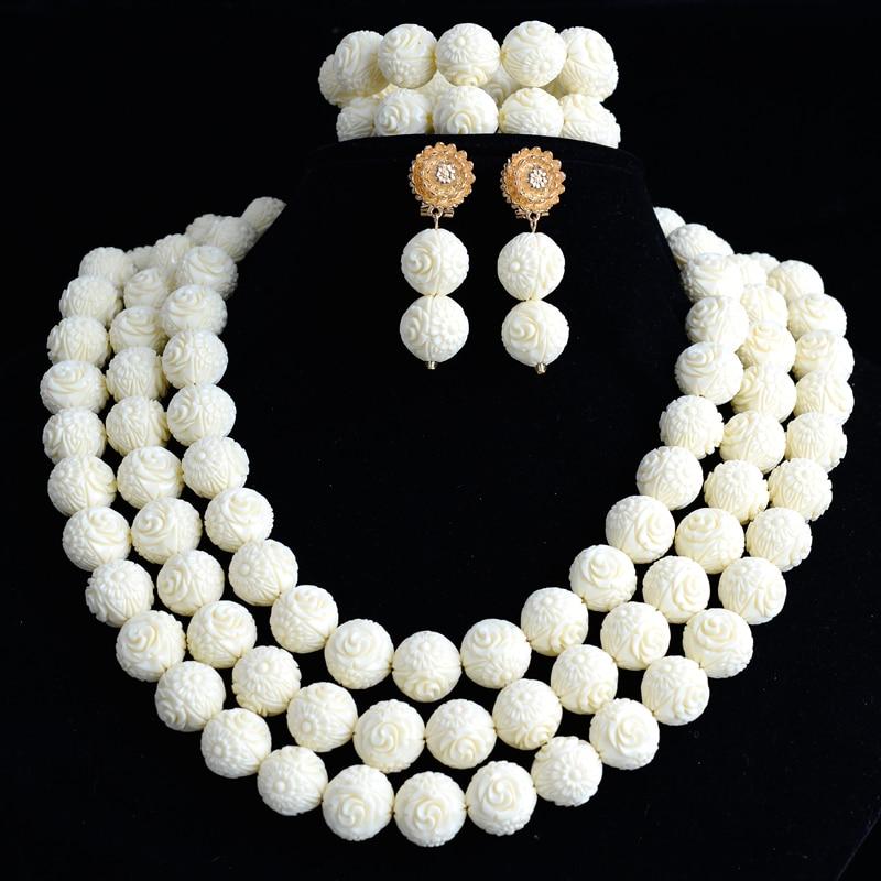 offres exclusives 100% de qualité nouvelle qualité Fleur De Corail Perles Bijoux De Mariage africain Set Bijoux ...