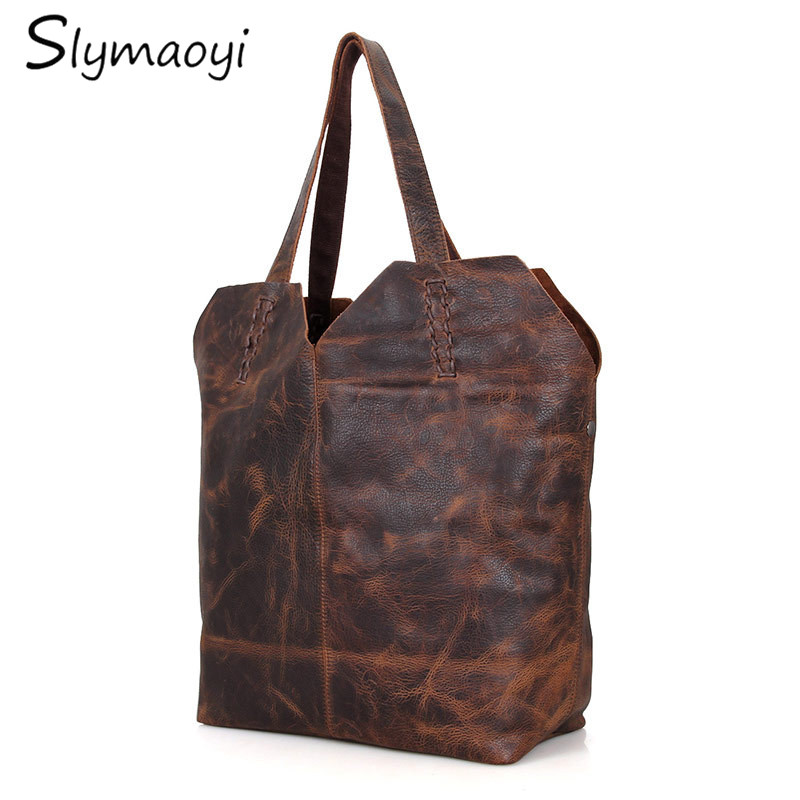 Slymaoyi brand women handbag genuine leather tote bag female retro shoulder bags ladies handbags large messenger bag  brand women s handbags genuine leather bag ladies women messenger bags shoulder bag female tote alligator bag have ribbons me582