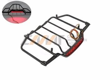 Luggage Rack With LED Light case for Harley Air Wing Tour Pak Trunk Pack 1993-2013 US