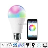2pcs Lot Magic Colors Led Lamp 7W E27 26 Smart Bulb RGBW Led Lighting Lamp Bluetooth