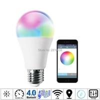 2pcs/Lot Magic colors led lamp 7W E27/26 smart bulb RGBW led lighting lamp Bluetooth 4.0 light bulb AC100 240V for Home hotels