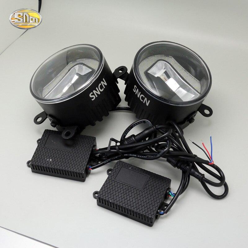 SNCN светодиодные Противотуманные фары для Форд Фиеста 2009-2016 с дневные ходовые огни DRL 12V высокой яркости