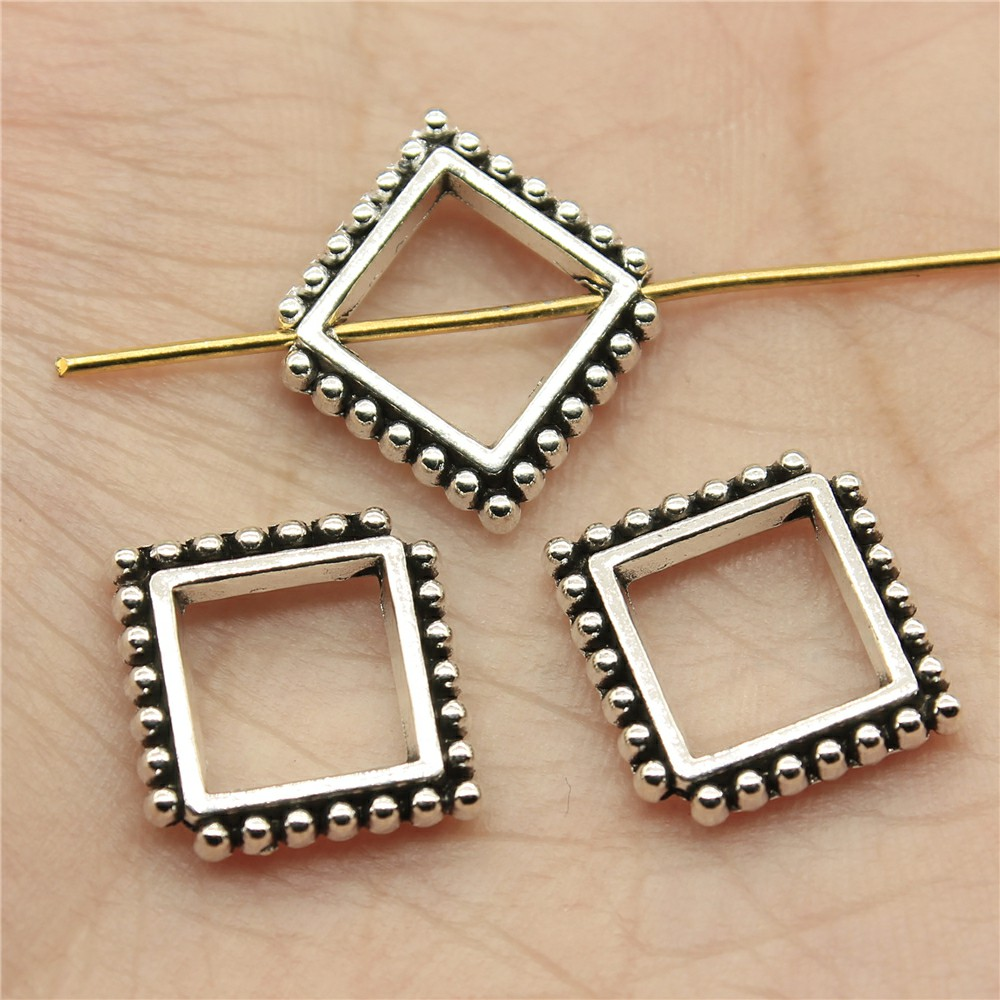 WYSIWYG 12pcs 17*15*3mm Small hole Spacers Beads Pendants Charms Findings Jewellery Making Findings for DIY Craft