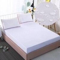 Folha de cama equipada à prova d' água, branco/rosa/cinza colchas, protetor capa de colchão do bebê, animais de estimação, gêmeo, queen size rei