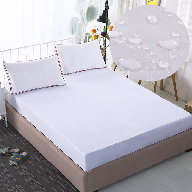 Charming Waterproof Fitted Bed Sheet, White/Pink/Grey Bedspreads, Mattress Cover  Protector From