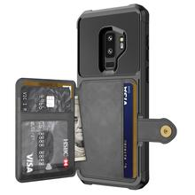 WEFOR PU Leather Case For Samsung Galaxy S9 S9 Plus Retro Flip Phone Cases For Samsung Galaxy Note 9 Card Holders Cover