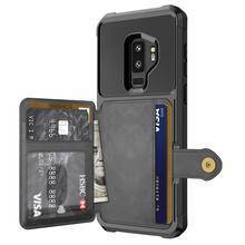 WEFOR PU skórzane etui do Samsung Galaxy S9 S9 Plus Retro odwróć etui na Samsung Galaxy Note 9 etui na karty okładka