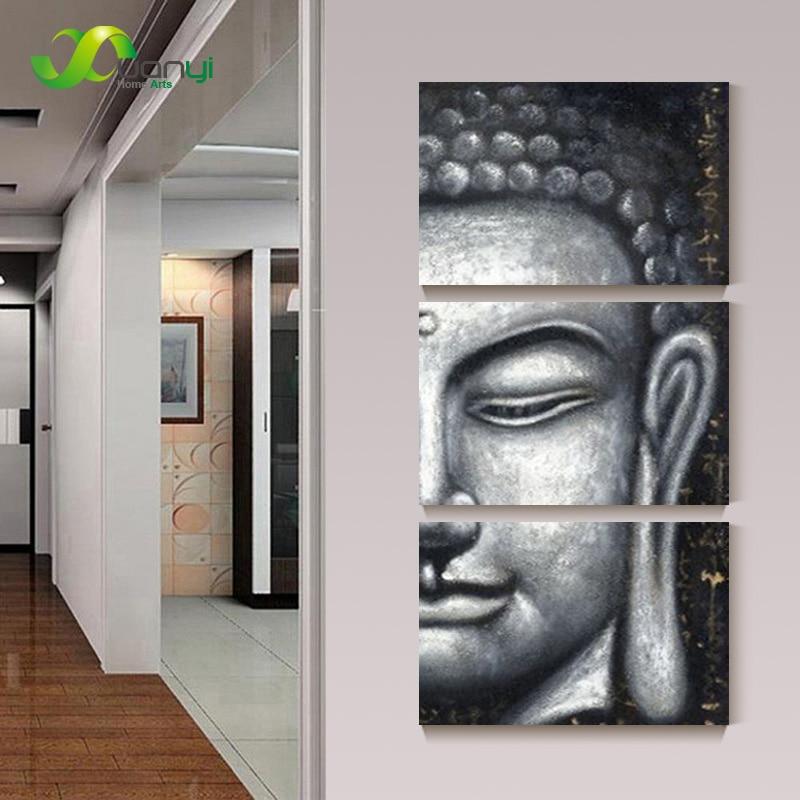 3 Panel Wall Art Buddha Picture Modern Print Painting On
