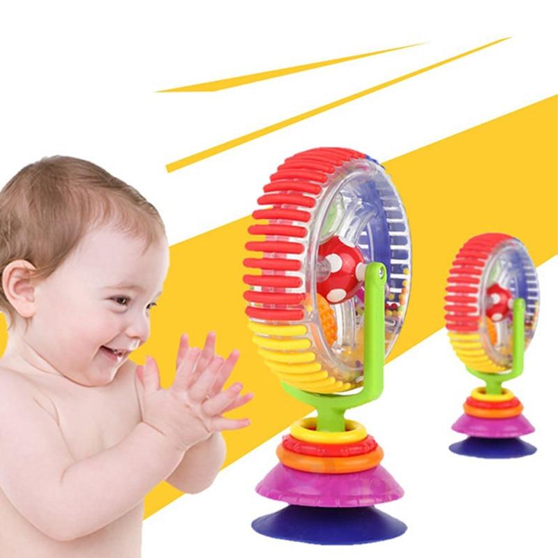 2018 Neue Neugeborenen Rassel Licht-up Spielzeug Tricolor Rotierenden Riesenrad Sucker Pädagogisches Spielzeug Für 0-12 Monate Baby-17