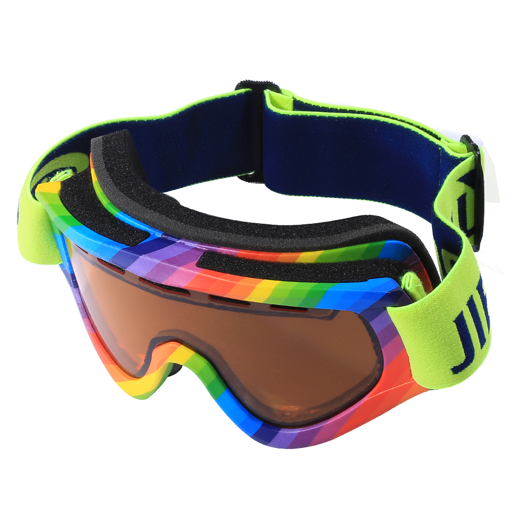 Jiepolly Ski Snowboard Goggles OTG Snowmobile Sunglasses Motocross Goggles 2 Layers Dual Anit fog Lenses Spherical