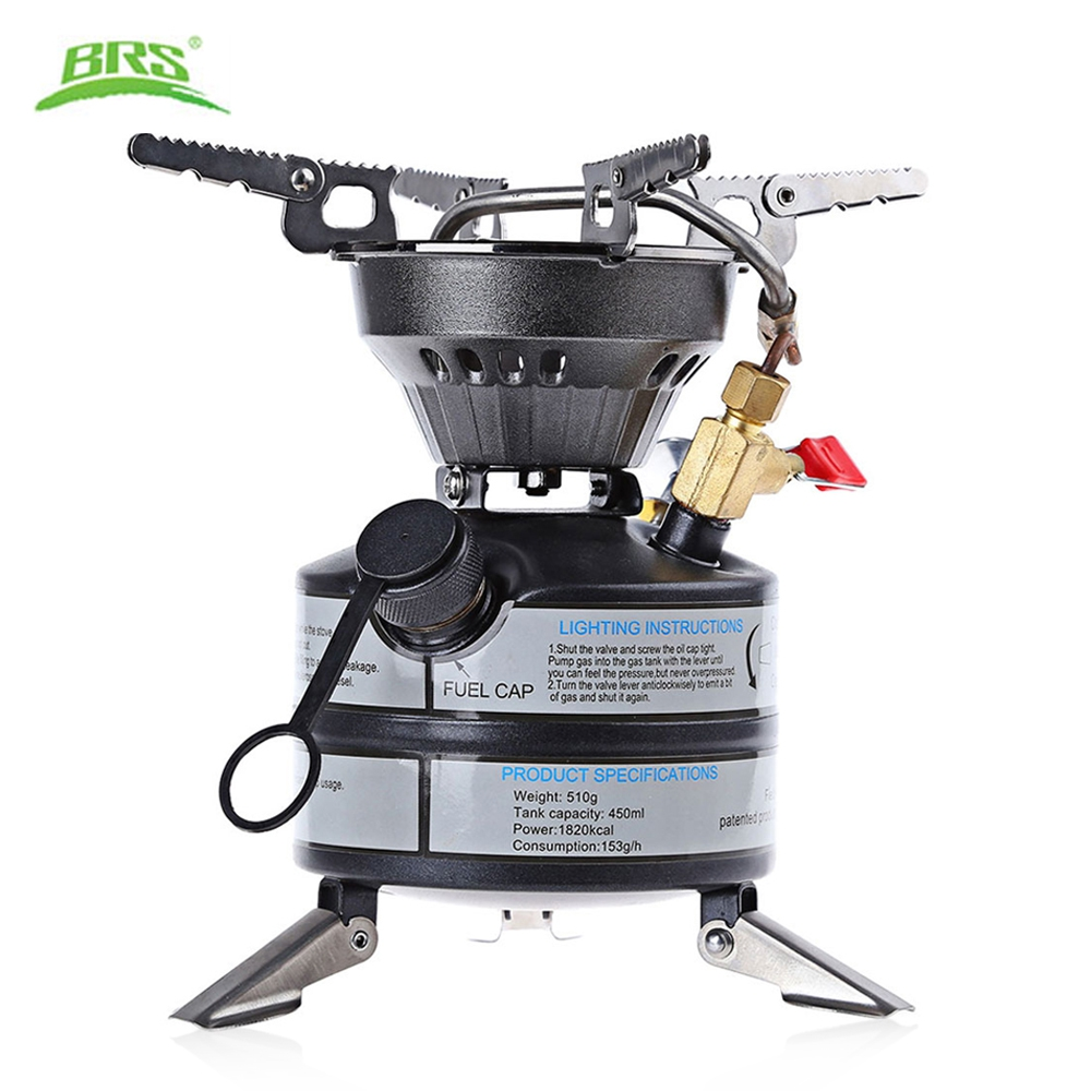 BRS Gasoline Stove Liquid Fuel Quenching Furnace Cooker Outdoor Survival Kit Portable Cooking Camping Picnic Stove Gas Burner multifunctional portable outdoor camping petrol stove burners 1000ml gasoline picnic gas stove cooking stove wholesale