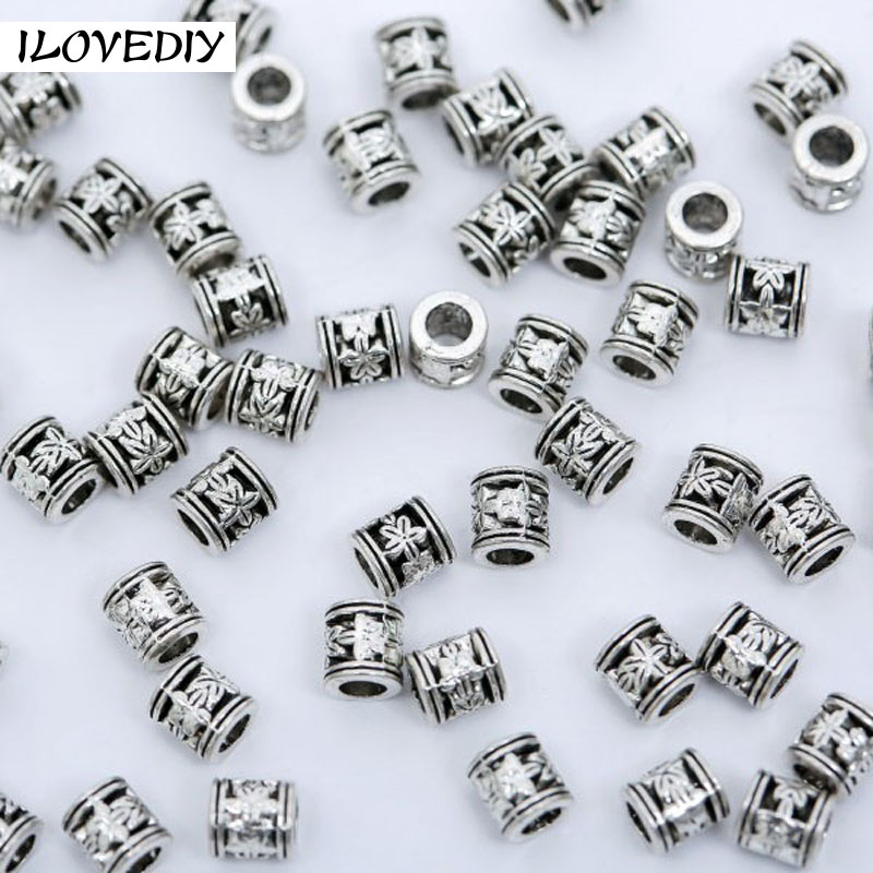 Logical 100pcs/lot Tibetan Silver Plated Loose Spacer Beads Metal Beads Charms Jewelry Making Diy Jewelry Finding Bracelets Quell Summer Thirst Jewelry & Accessories Beads