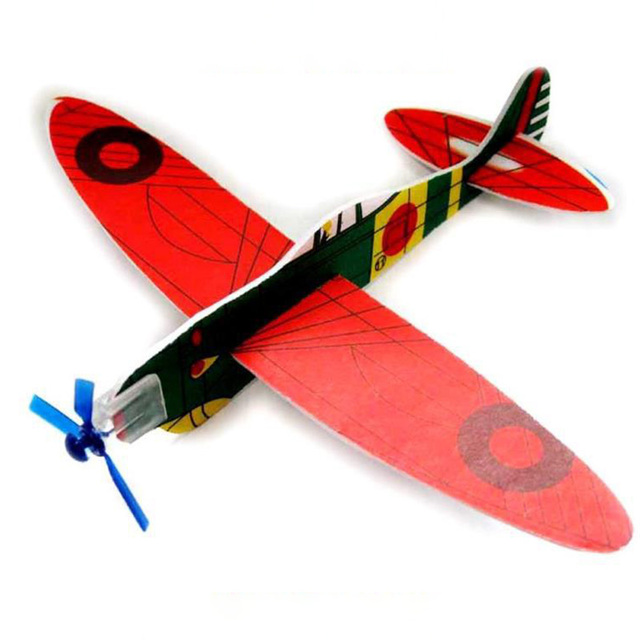 12pcs foam airplane flying model gliders throw plane kids children education outdoor toy
