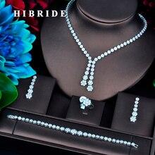 Hibride 여성을위한 새로운 디자인 골드 컬러 브라 두바이 쥬얼리 세트 웨딩 액세서리 파티 선물 N 734