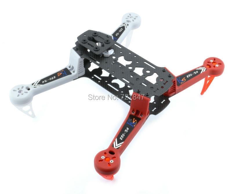 DIY Drone KS280-X4 2804-X1 FPV 280mm 4-Axis RC Carbon Fiber Quadcopter Frame Better than QAV250 for CC3D Naze32 drone with camera rc plane qav 250 carbon frame f3 flight controller emax rs2205 2300kv motor fiber mini quadcopter