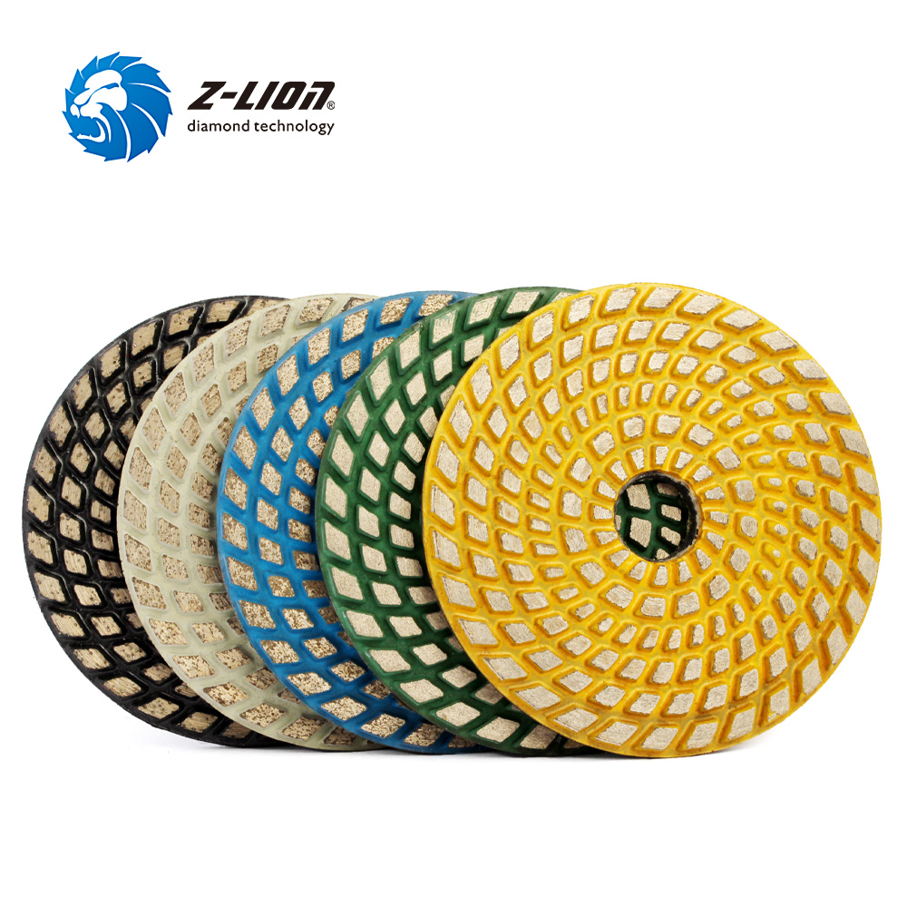 Z LION 4 Inch Diamond Grinding Pads 3pcs Sintering Metal Bonded Polishing Pads For Concrete Floor