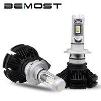 BEMOST 1 Pair Auto DIY Color Car Headlights Fog Light X3 H7 6000LM 6500K 50W Headlamp