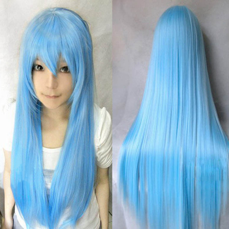 80 cm Cheap Long Straight Heat Resistant Bright Colored Synthetic Hair Wigs  Cartoon Pink Cosplay Wig 16 Colors Free Shipping on Aliexpress.com  fcd4105c3ea9