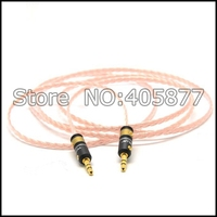 5N puur koperen stereo 3.5mm om 3.5mm mannelijk naar kabel met viablue 3.5mm stekkers