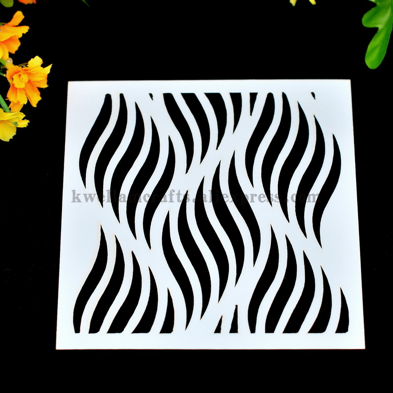 Wave Pattern Scrapbooking Tool card DIY album masking spray painted template drawing stencils laser cut KW691017