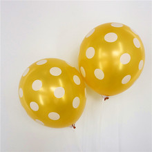 100pcs12inch gold silver white Spot Latex Balloons Polka dot Wave Point Helium Baby Shower Birthday Wedding Party Decor Supplies