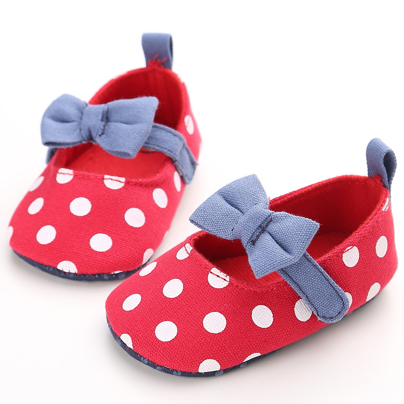 2018 new Sweet Casual Princess Girls Baby Kids Solid Crib Babe Infant Toddler Cute Bow Baby Shoes ...