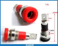 10pcs Copper 4mm Banana Plug Multimeter Socket Binding Post Red Black For Probes