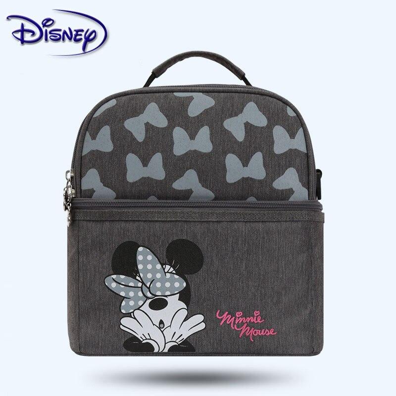 Disney Milk Food Fresh Storage Thermal Diaper Bag Baby Insulation Bag Cartoon Mummy Feeding Bottle Cooling Backpack