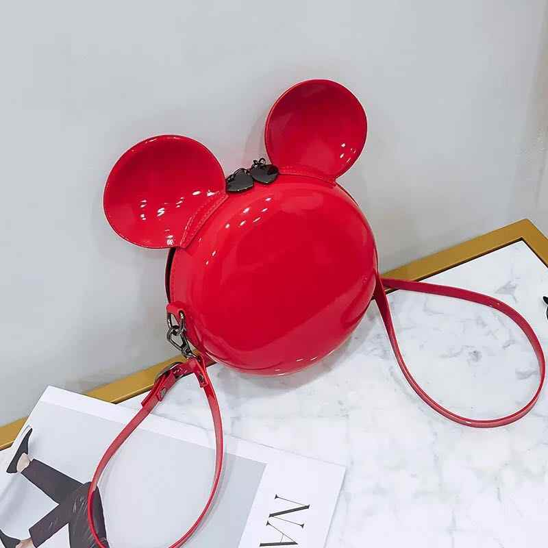 新しいファッションデザイン女性ミッキー形バッグかわいい面白い女性イブニングバッグクラッチ財布チェーンショルダーバッグ用誕生日ギフト