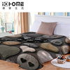 Free Shipping Digital Stones Designs Coral Blanket Bed Sheet Bedline Soft Touch Travel Thermal Blanket I