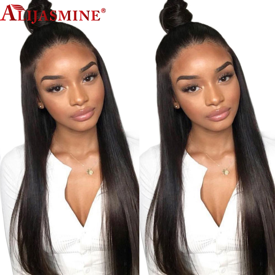 Straight Human Hair Wigs Glueless Full Lace Human Hair Wigs Pre Plucked With Baby Hair Remy
