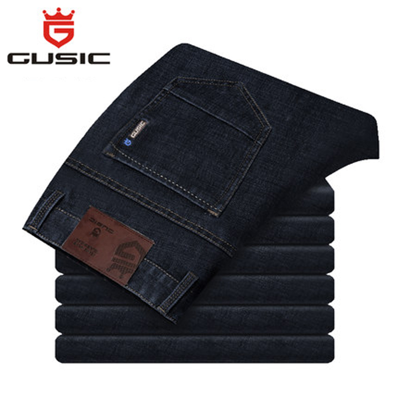 Fashion Men Jeans Summer Slim Fit Jeans Brand GUSIC Jean Homme Big Size (28-44) Mens Casual Pants Denim Plue Size Jeans 275 men s jeans homme denim pants for men straight casual skinny male slim fit clothes big size 30 48 masculino washed trousers e485
