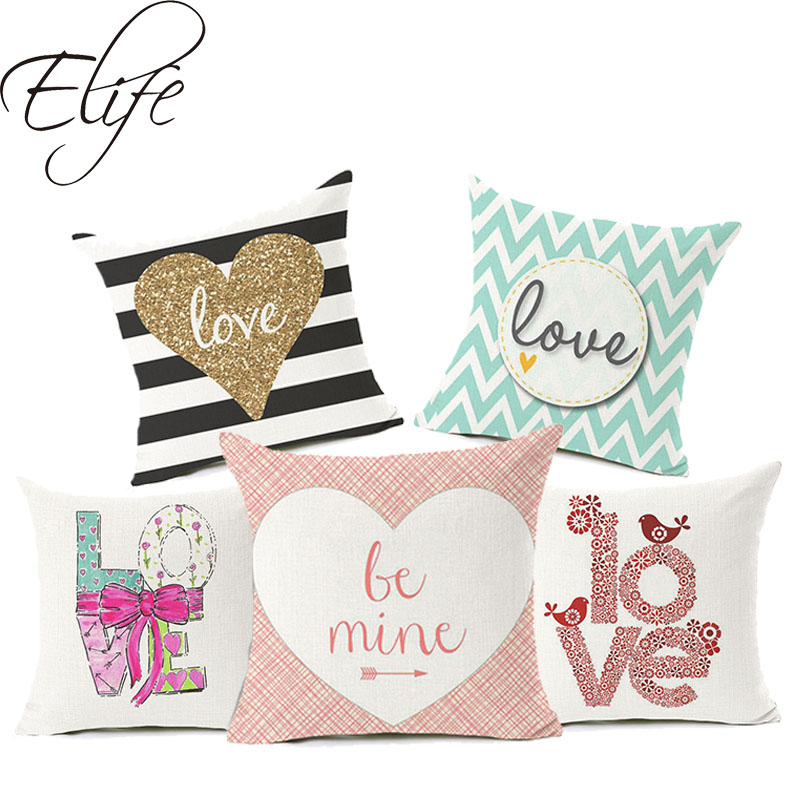 Elife Polyester Cotton Linen Letter Cushion Cover Anchor