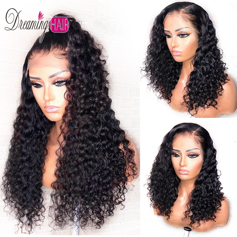 Dreaming Curly Wig Brazilian Lace Front Human Hair Wigs With Baby Hair Lace Front Wig Remy Hair Pre Plucked Bleached Knots