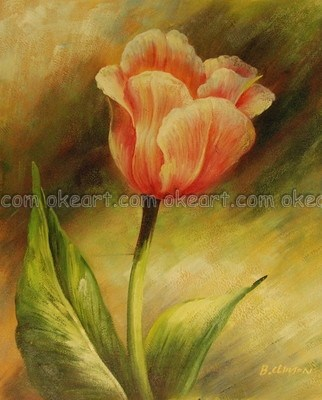 Oil Paintings On Canvas Free Shipping Decoration Art Flowers Single Pink Rose Bathroom Background Modern Deco