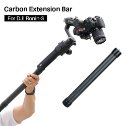 Professional Carbon Fiber Extension Pole Stick 1/4'' 3/8 Thread Stabilizer Rod Monopod for DJI Ronin S Moza Air 2 Zhiyun Crane 2