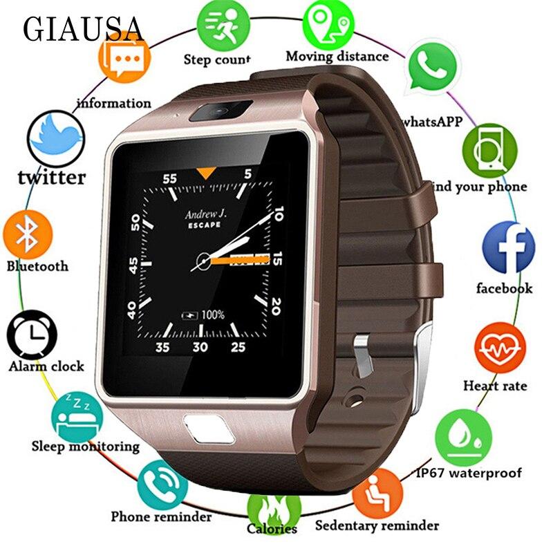 Vente chaude 3G WIFI QW09 Android montre intelligente Bluetooth 4.0 réel-podomètre carte SIM appel Anti-perte Smartwatch PK DZ09 GT08