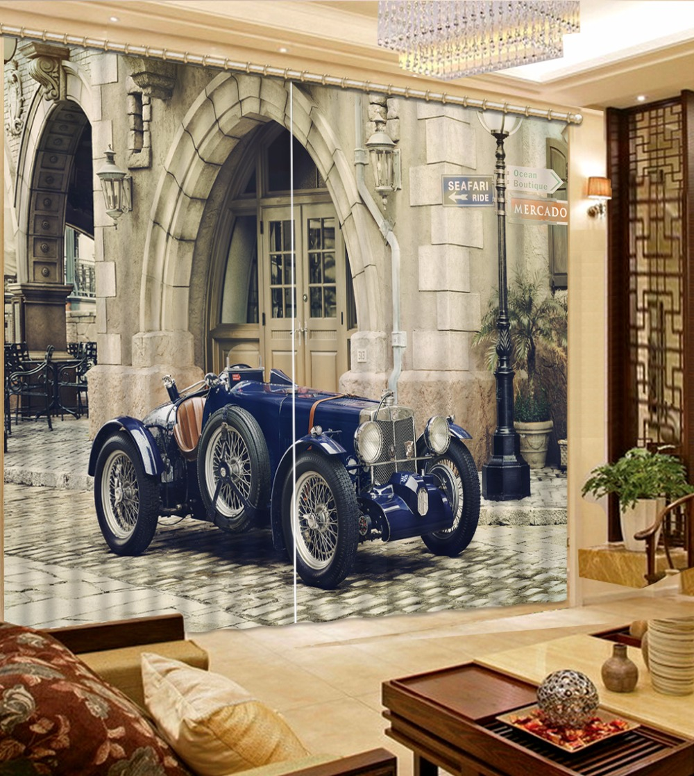Classic Children Room Curtains car decoration 3D Curtains For The Living Room Bedroom Retro Window Drapes Classic Children Room Curtains car decoration 3D Curtains For The Living Room Bedroom Retro Window Drapes