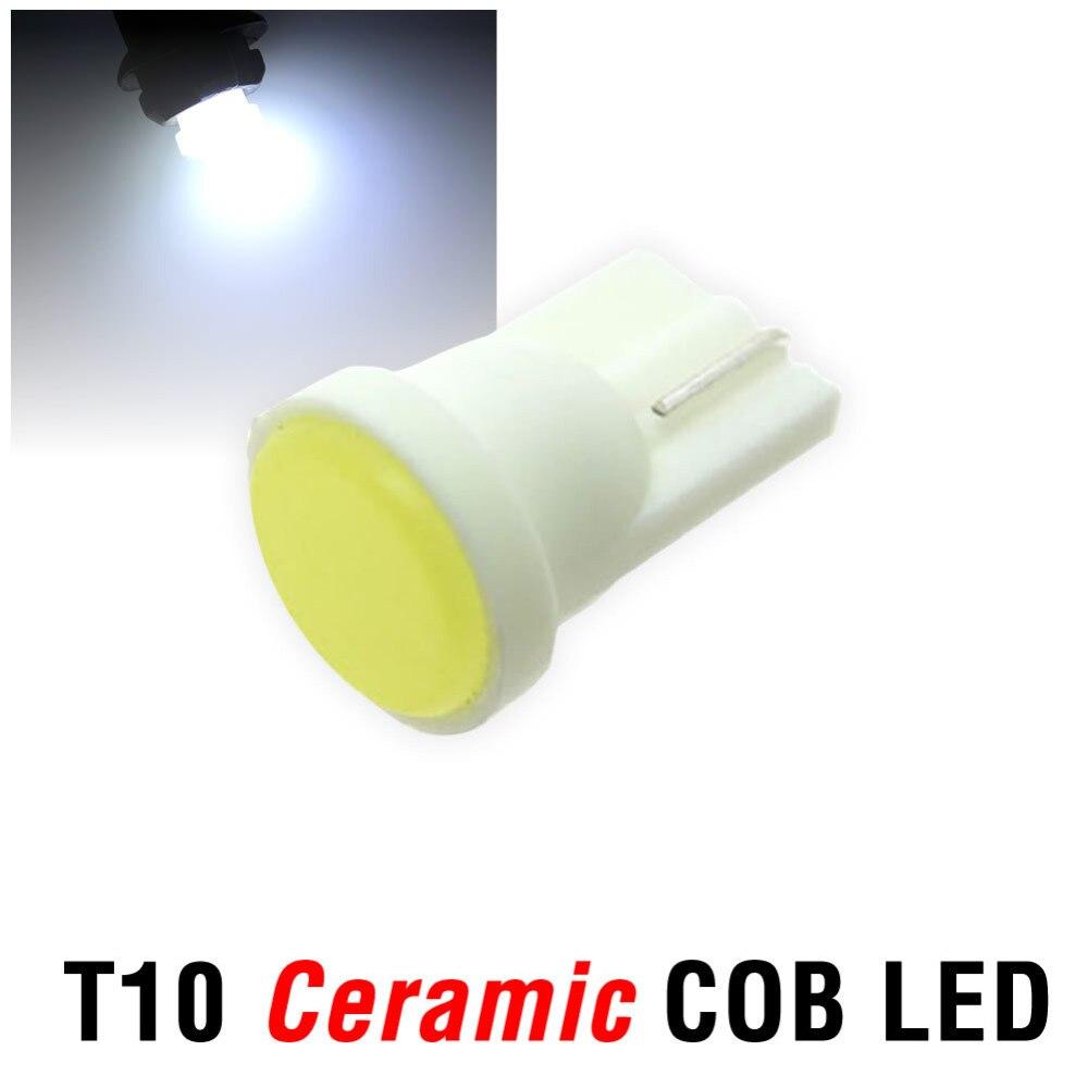 1X T10 Ceramic COB W5W 168  Car Interior 1 LED  Wedge Door Instrument Side Light Bulb Lamp Car Light Source DC12V 1x t10 ceramic cob w5w 168 car interior 1 led wedge door instrument side light bulb lamp car light source dc12v