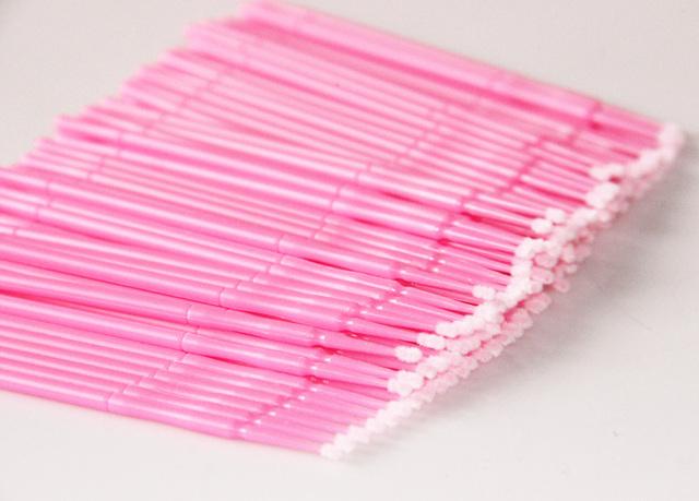 MOONBIFFY 100pcs/lot Durable Micro Disposable Eyelash Extension Individual Applicators Mascara Brush For Women Wholesale