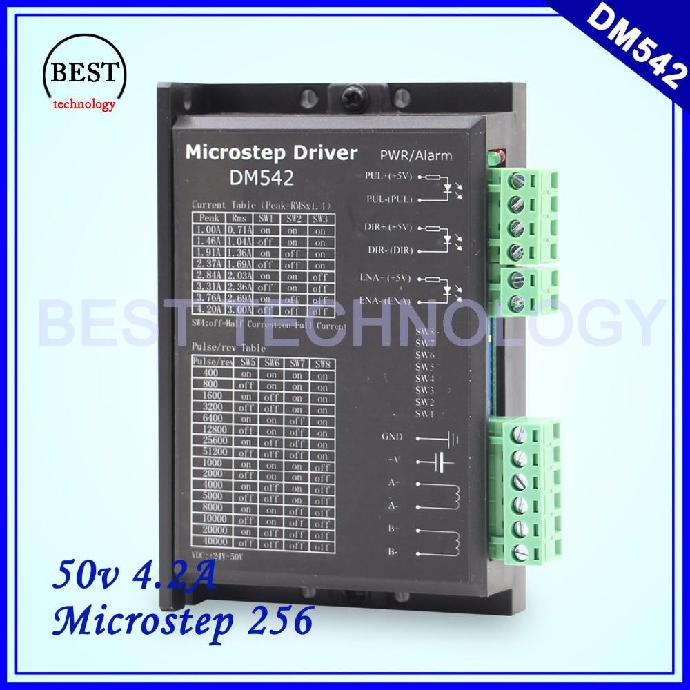 Driver M542 Stepper motor Driver 50V/4.2A Microstep 256 DM542 24-50v 4.2A for NEMA17 NEMA23 NEMA34 stepper motor