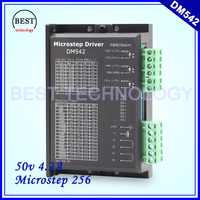 Motorista m542 driver de motor deslizante 50 v/4.2a microstep 256 dm542 24-50v 4.2a para nema17 nema23 nema34 motor de passo