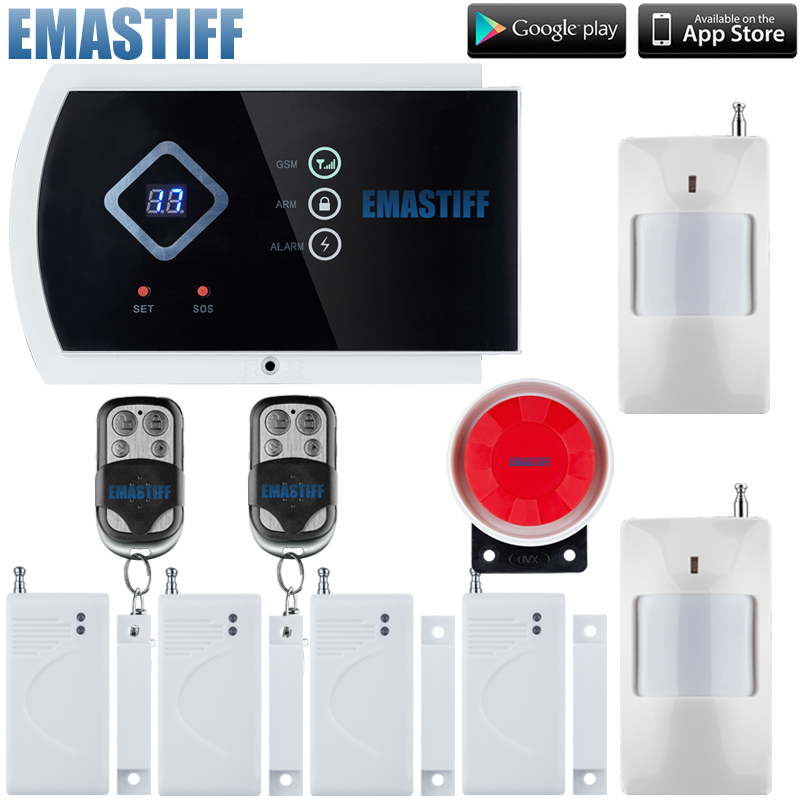 English/Russian/Spanish/French Wireless wired Home Security GSM Alarm System with IOS Android APP Remote Control Alarm system alarm gsm system wireless gsm alarm system security home android app touch panel french german sos button remote control k9y