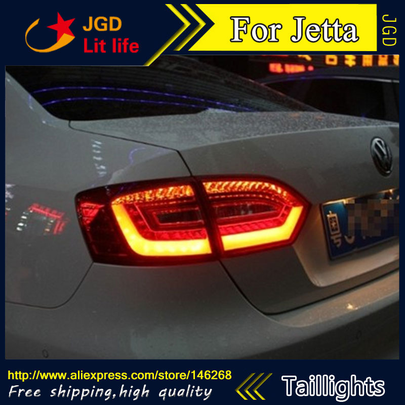 Car Styling tail lights for VW Jetta 2012 2013 2014 LED Tail Lamp rear trunk lamp cover drl+signal+brake+reverse car styling tail lights for kia k5 2010 2014 led tail lamp rear trunk lamp cover drl signal brake reverse